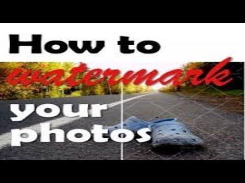 How to Add Watermark / Logo to Your Photos | GoldQueen Queency
