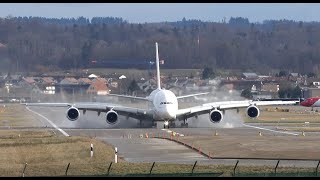 Sturm Lolita - Landung A380 in Zurich EK87