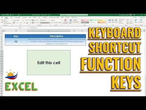 Excel Keyboard Shortcut Function Keys