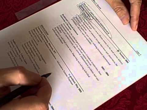 How to write a consulting resume by Dr. David Firth