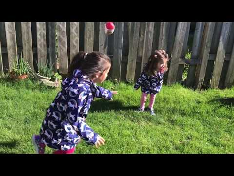 Learn Colors - Fun In The Sun - Sports Balls - Family Vlog - Silly Girls Love To Run Around
