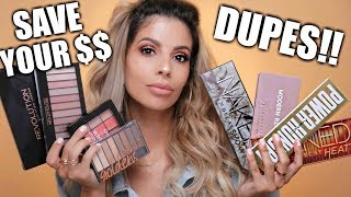CHEAP DUPES FOR EXPENSIVE HIGH END EYESHADOW PALETTES
