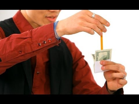 How to Do the Pencil thru Dollar Trick | Magic Tricks