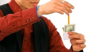 How to Do the Pencil thru Dollar Trick | Magic Tricks