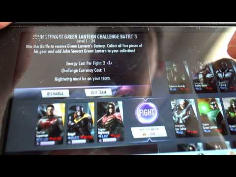 INJUSTICE iOS John Stewart Green Lantern Challenge and unlock  Gods Among Us