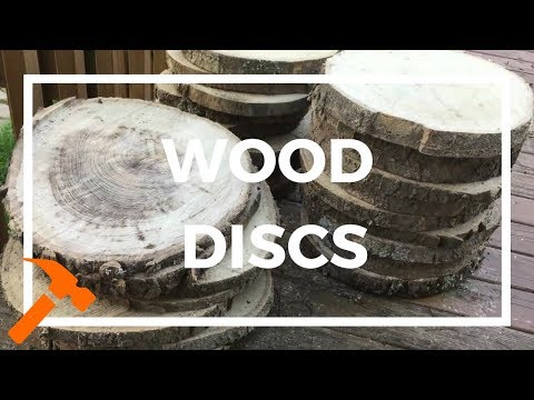 How to Make Rustic Wooden Discs