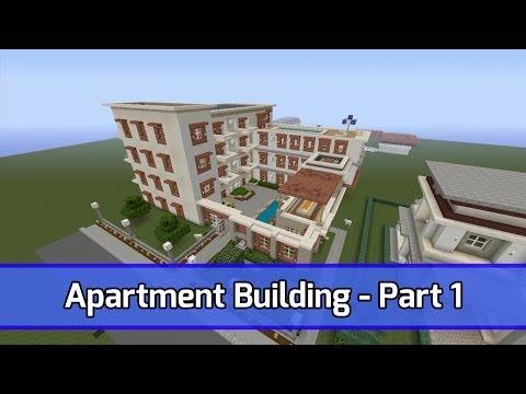 Minecraft: Let's Build Apartment Building -- Xbox 360 Tutorial -- Part 1 (City Texture Pack)