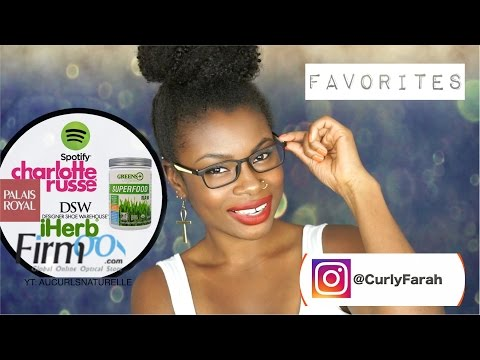 FAVORITES| PALAIS ROYAL, FIRMOO GLASSES, CHARLOTTE RUSSE, SUPERFOODS,  MUSIC