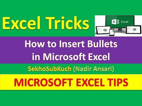 How to Insert Bullets in Microsoft Excel : Excel Tips and Tricks [Urdu / Hindi]
