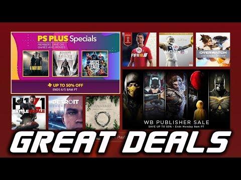 PS4 GREAT DEALS - PS PLUS Specials - PSN SALE
