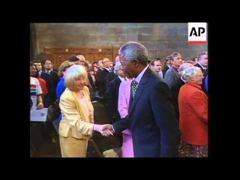 UK: LONDON: NELSON MANDELA ADDRESSES PARLIAMENT