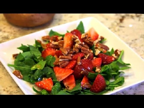 Sugar Free Spinach & Strawberry Salad : Vegan Cooking