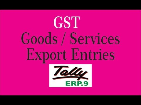 GST Export Sales in Tally ERP9 || GST Export / Exempt Sales in TALLY