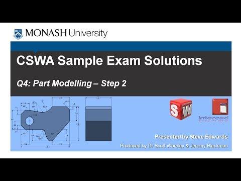 SolidWorks CSWA Practice Exam Solutions Part 4: Q4 Part Modelling p2