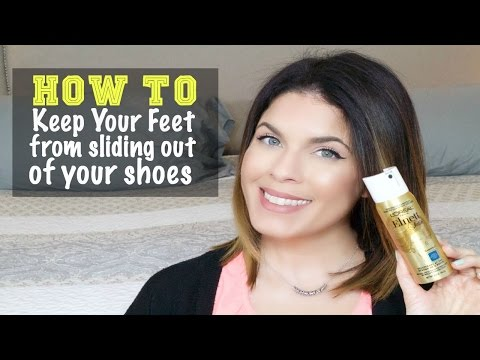 How to Keep Feet from Sliding Out of Shoes | Quick Tip | Updated