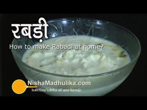 Rabri recipe - Creamy Shahi Rabri - Rabri Malai Recipe - Rabari Recipe