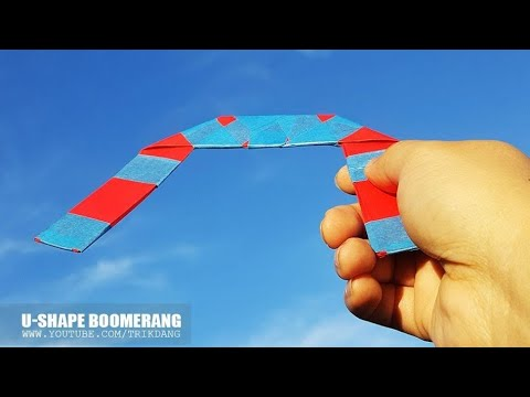 EASY PAPER TOY for Kids - How to make a Paper Boomerang that Comes Back | U-Shape