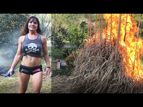 Were you born in 1966? Reality star Farm Girl Jen was. Annual pampas grass burning.