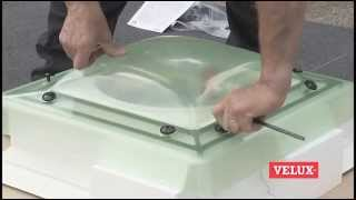 Flat Roof Window Installation How To Install A Velux Flat Roof Window