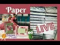Cricut Scrapbook Paper and Giveaway LIVE