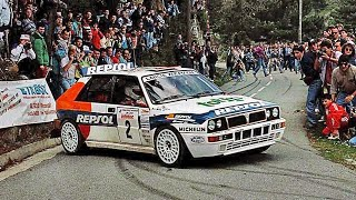 Carlos Sainz & Lancia Delta HF Integrale ´93 - with pure engine sounds (WRC Tour de Corse 1993)