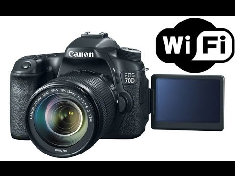 Canon EOS 70D 80D DSLR Camera WiFi Setup & Demo