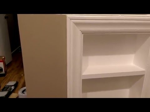 How to make a bathroom niche
