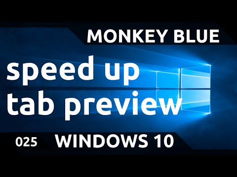 Windows 10: how to increase the speed of the taskbar tabs preview