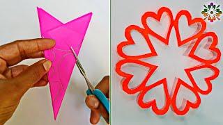 5 Snowflake ideas for Valentine's day Decoration || Snowflakes Ideas❤
