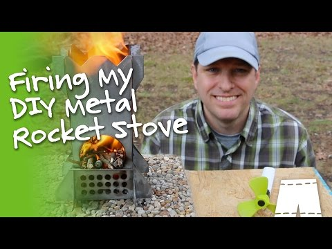How To Fire A Metal Rocket Stove