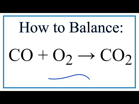 How to Balance CO + O2  = CO2