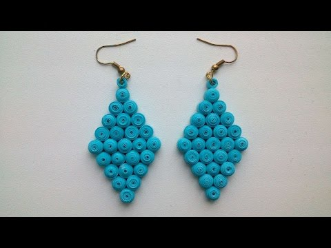 How To Make Simple Paper Earrings - DIY Crafts Tutorial - Guidecentral