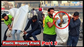 PLASTIC WRAPPING PEOPLE  PRANK Part2 - GONE WRONG  PRANK IN INDIA 2020  By TCI