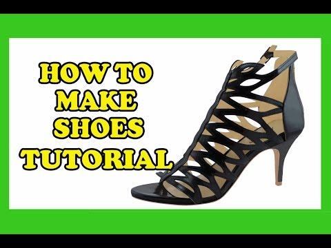 How To Make Shoes - High Heels, Wedding Heels, Designer Heels, Sandal Style 03 Tutorial