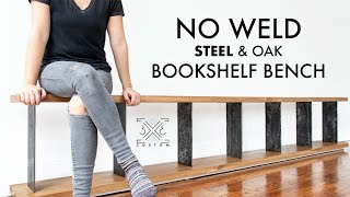 No Welding Required! Building a 10 FOOT LONG Plywood Bench w/ Veneer and Steel Dividers - Walrus Oil