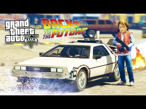 GTA 5 PC Mods - BACK TO THE FUTURE w/ DELOREAN TIME MACHINE MOD
