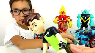 Download БЕН 10 ВСЕ Игрушки из Мультфильма Бен Тен - new Ben10 toys. Часы Омнитрикс и Фабрика Героев Video