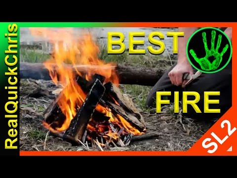 best way to start a fire bonfire campfire or build and make a fire