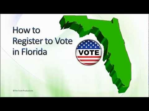 How to register to vote in Florida