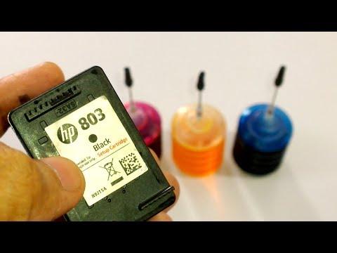 DIY - Refill HP INK CARTRIDGE 803
