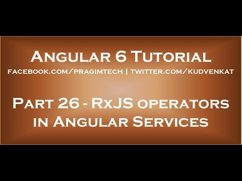 RxJS operators in angular services