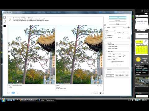 Tutorial - resize picture for web without losing quality - Photoshop elements