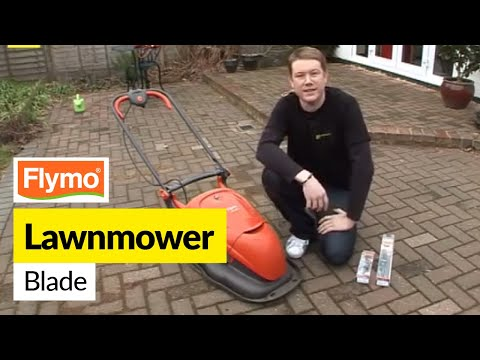 How to replace a Flymo blade on a Flymo Hover Compact 330 lawnmower