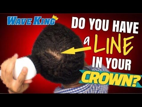 How To Remove the LINE in Your 360 Waves CROWN!! BEST Advice for Waves