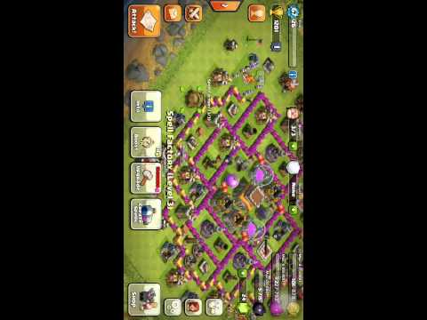 Clash of Clans Destroying some n00bs!