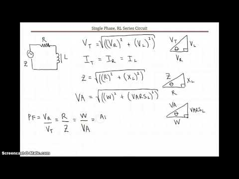 RL Series Circuit Equations & Sample Calculation (Advanced Theory)