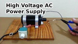 Download DIY High Voltage AC Power Supply Video