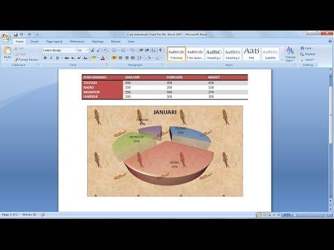 Belajar microsoft word 2007 | Cara Membuat Chart Pie