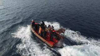 AEGIS I RESCUING REFUGEES IN THE NORTHERN AEGEAN