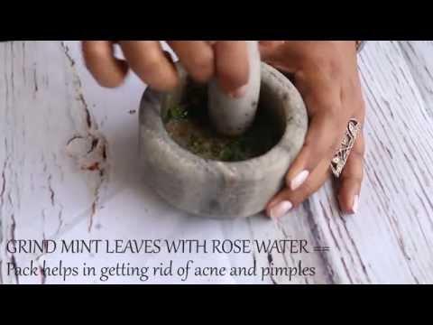 Mint Face Mask Remedies - Pigmentation , Acne Marks, Open Pores Etc